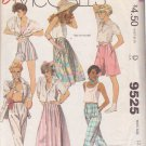 McCALL'S 1985 PATTERN 9525 SIZE 12 MISSES' SKIRT PANTS CULOTTES