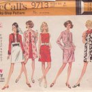 McCALL'S 1969 PATTERN 9713 SIZE 8 MISSES' JACKET DRESS COAT UNCUT