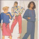 BUTTERICK PATTERN 3350 SIZE 8/10/12 MISSES'  TOP PANTS SKIRT & HOOD