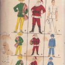 BUTTERICK PTRN 3352 SZ 10/12 CHILD'S COSTUMES SANTA,DOCTOR, CHINAMAN, MEXICAN