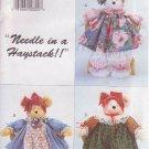 """BUTTERICK PATTERN 3718 PAMMY BEARS PACKAGE 3 18"""" STUFFED BEARS"""