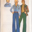 BUTTERICK PATTERN 3790 SIZE 40 MEN'S SHIRT, PANTS & EMBROIDERY TRANSFER UNCUT