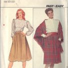 Butterick pattern 4501  SIZES 18-20-22 Misses' Skirt in 2 variations & Shawl SIZES 18-20-22