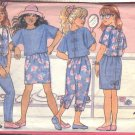 BUTTERICK PATTERN 4589 SIZES 7-8-10  GIRLS'TOP, VEST, SKIRT & PANTS