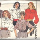 BUTTERICK PATTERN 4625 SIZE 6/8 MISSES' BLOUSE IN 5 VARIATIONS