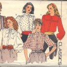BUTTERICK PATTERN 4625 SIZE 12/14 MISSES' BLOUSE IN 5 VARIATIONS