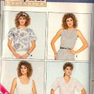 BUTTERICK PATTERN 4708 SIZES 12/14/16 MISSES' TOP in 4 VARIATIONS