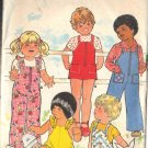 BUTTERICK PATTERN 4730 SIZE 2 TODDLER'S OVERALLS AND ROMPER