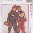 McCALL'S PATTERN 9042 DATED 1997 SIZE 4/5/6 UNISEX JACKET OVERALL TOP HAT ROLL