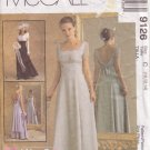 McCALL'S PATTERN 9126 MISSES' BRIDAL & BRIDESMAID GOWNS SIZES 10/12/14