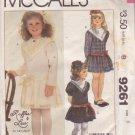 McCALL'S PATTERN 9206 SZ 6 GIRL'S DRESS 3 VARIATIONS UNCUT