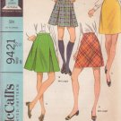 McCALL'S VINTAGE PATTERN 9421 SIZE 29 WAIST MISSES' SKIRT IN 4 VARIATIONS