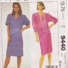 McCALL'S PATTERN 9440 SIZES 12/14/16  MISSES' DRESS IN 2 VARIATIONS