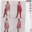 McCALL'S PATTERN 6410 SIZES 6/8/10  MISSES' MATERNITY TUNIC, JUMPSUIT 2 LENGTHS