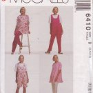 McCALL'S PATTERN 6410 SIZES 8/10  MISSES' MATERNITY TUNIC, JUMPSUIT 2 LENGTHS