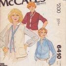 McCALL'S PATTERN 6410 SIZES 8/10  MISSES' BLOUSE & VESTS