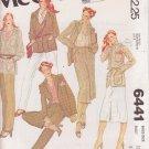 McCALL'S VINTAGE PATTERN 6441 SIZE 12 MISSES' LINED JACKET, SKIRT, PANTS UNCUT