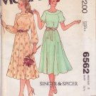McCALL'S PATTERN 6562 SIZE 8  MISSES' DRESS by SINGER & SPICER