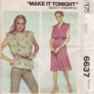McCALL'S 6637 PATTERN SIZE SMALL 10-12 MISSES' DRESS OR TOP UNCUT