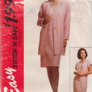 McCALL'S PATTERN 6653 SIZES 16-18-20 MISSES' UNLINED CARDIGAN AND DRESS