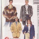 McCALL'S 6684 PATTERN SIZES S,M,L UNISEX LINED OR UNLINED JACKET UNCUT