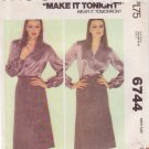 McCALL'S 6744 PATTERN SIZE SMALL 10-12 MISSES' WRAP SKIRT UNCUT