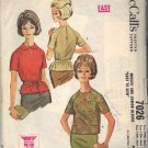 McCALL'S PATTERN 7026 SIZE 10/12/14  MISSES' Blouse