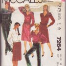 McCALL'S PATTERN 7264 DATED 1975 SIZE 10 LIZ CLAIBORNE MISSES' TOPS,PANTS,SKIRT