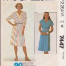 McCall's PATTERN 7447 size medium Misses' one piece dress, two versions UNCUT