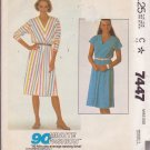 McCall's PATTERN 7447 size small Misses' one piece dress, two versions UNCUT