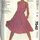 McCall's pattern 7542 sizes 6-20 MISSES' for a button strap shoulders dress UNCUT