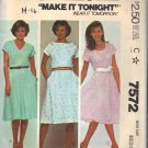 McCALL'S PATTERN 7572 SIZE MD MISSES' PULLOVER DRESS
