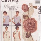 McCALL'S PATTERN 7572 SIZES S/M/L MISSES' VEST 2 LENGTHS