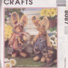 """McCALL'S PATTERN 8087 DATED 1996 SWEET SPRING THYME 16"""" BUNNIES UNCUT"""