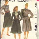 McCALL'S PATTERN 8119 DATED 1982 SIZE 18 MISSES' BLOUSE, JACKET AND SKIRT UNCUT