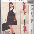 McCALL'S PATTERN 8122 SIZE 12/14  MISSES' MATERNITY DRESS,TOP,PULLON SKIRT,PANTS