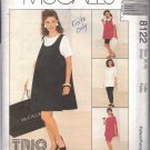 McCALL'S PATTERN 8122 SIZE 8/10  MISSES' MATERNITY DRESS,TOP,PULLON SKIRT,PANTS