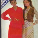 McCALL'S PATTERN 8157 DATED 1982 SIZES 8-10-12 MISSES' DRESS AND VEST UNCUT