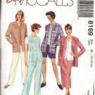 McCALL'S PATTERN 8169 SZ 40/42/44  MISSES' JACKET, VEST, PANTS, SHORTS, SKIRT