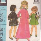 McCALL'S PATTERN 9025 SIZE 4 GIRL'S ROBE IN 2 LENGTHS