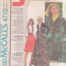 McCALL'S PATTERN 4772 SIZE 8/10/12 MISSES' JACKET & SKIRT I2 VARIATIONS