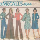 McCALL'S PATTERN 4844 SIZE 10 MISSES' SHIRT JACKET SKIRT TOP PANTS