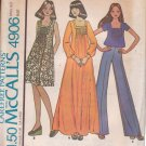McCALL'S VINTAGE 1976 PATTERN 4906 SIZE 8 MISSES' DRESS OR TOP