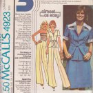McCALL'S VINTAGE 1976 PATTERN 4923 SIZE 8 MISSES' JACKET TUBE TOP SKIRT PANTS
