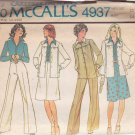 McCALL'S VINTAGE 1976 PATTERN 4937 SIZE 12 MISSES' JACKET BLOUSE SKIRT PANTS