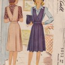 McCALL'S VINTAGE 1942 PATTERN 5032 SIZE 14 MISSES' MATERNITY DRESS & BLOUSE