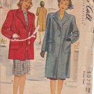 McCALL'S VINTAGE 1943 PATTERN 5070 SIZE 14 MISSES' COAT IN TWO LENGTHS