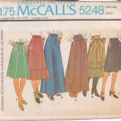 McCALL'S PATTERN 5233 SIZES 16/18/20 MISSES' 1 OR 2 PIECE DRESS UNCUT