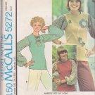 McCALL'S PATTERN 5272 SIZE PETITE 6/8 MISSES' SET OF TOPS UNCUT