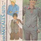 McCALL'S VINTAGE 1976 PATTERN 5275 SIZE 36 MEN'S VEST AND SHIRT